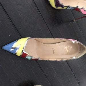 Christian Louboutin Shoes - Louboutin jagged edge multi color pigalle